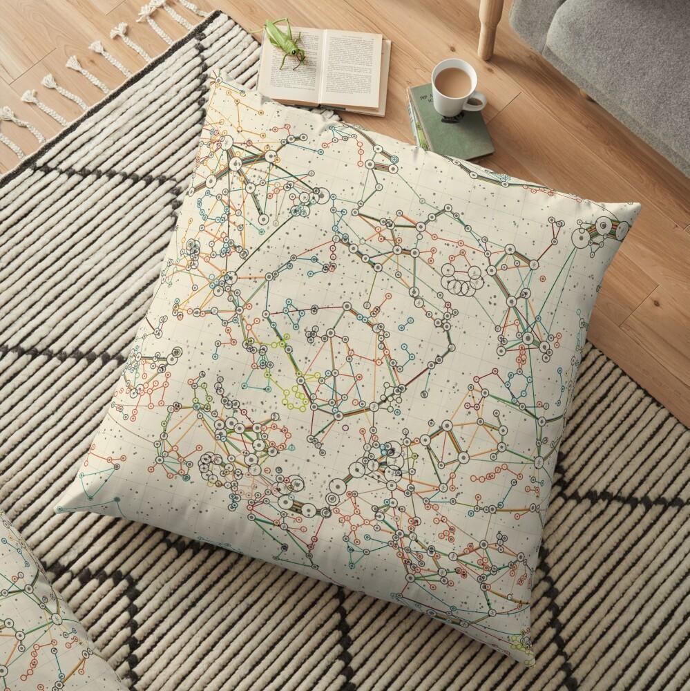 World Constellations Floor Pillow
