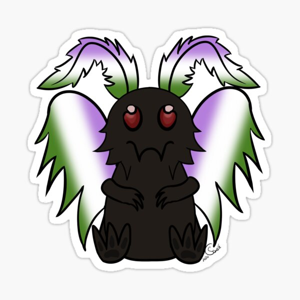 Mothman - Genderqueer Pride Sticker