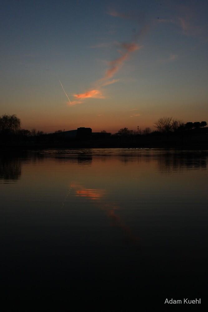 Jet stream Cloud Reflection by Adam Kuehl