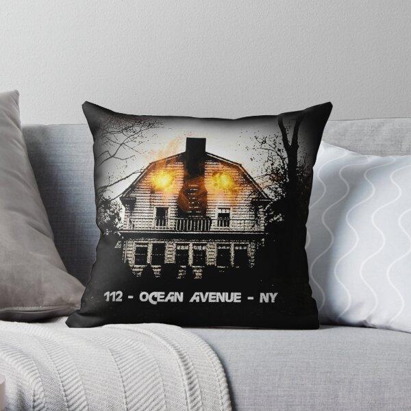 112 - Ocean Avenue - NY - Amityville House Throw Pillow