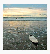 Playa Tamarindo Surf and Sunset Photographic Print