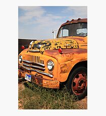 Yellow truck Photographic Print