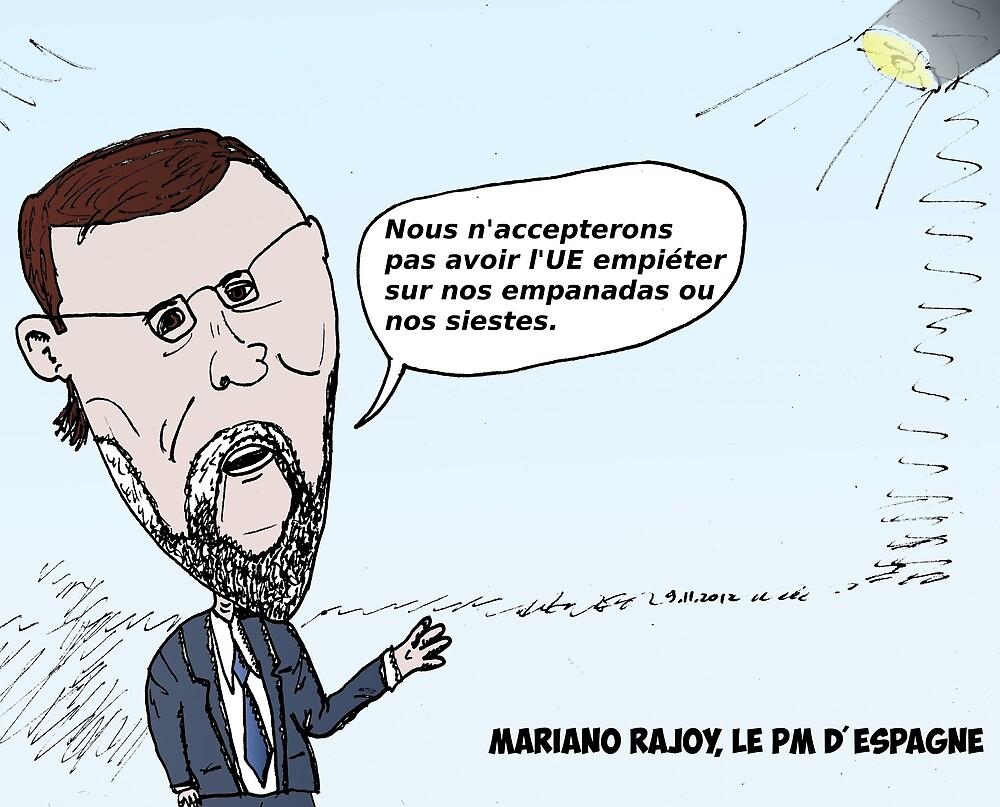 Mario RAJOY en caricature by Binary-Options
