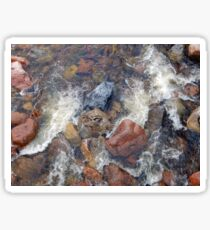 River rocks and rushing water Sticker