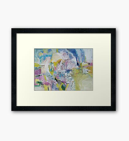 flour mill in the distance Framed Print