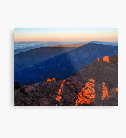 The morning light at Piton des Neiges Metal Print
