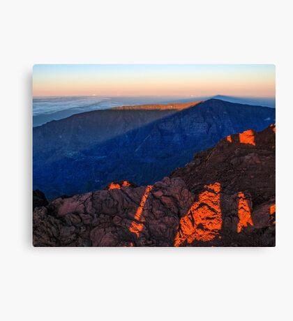 The morning light at Piton des Neiges Canvas Print