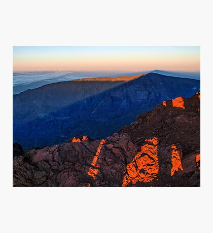 The morning light at Piton des Neiges Photographic Print