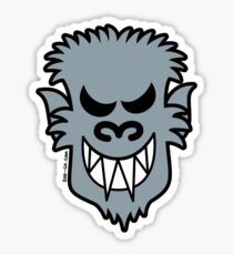 Naughty Halloween Werewolf Sticker