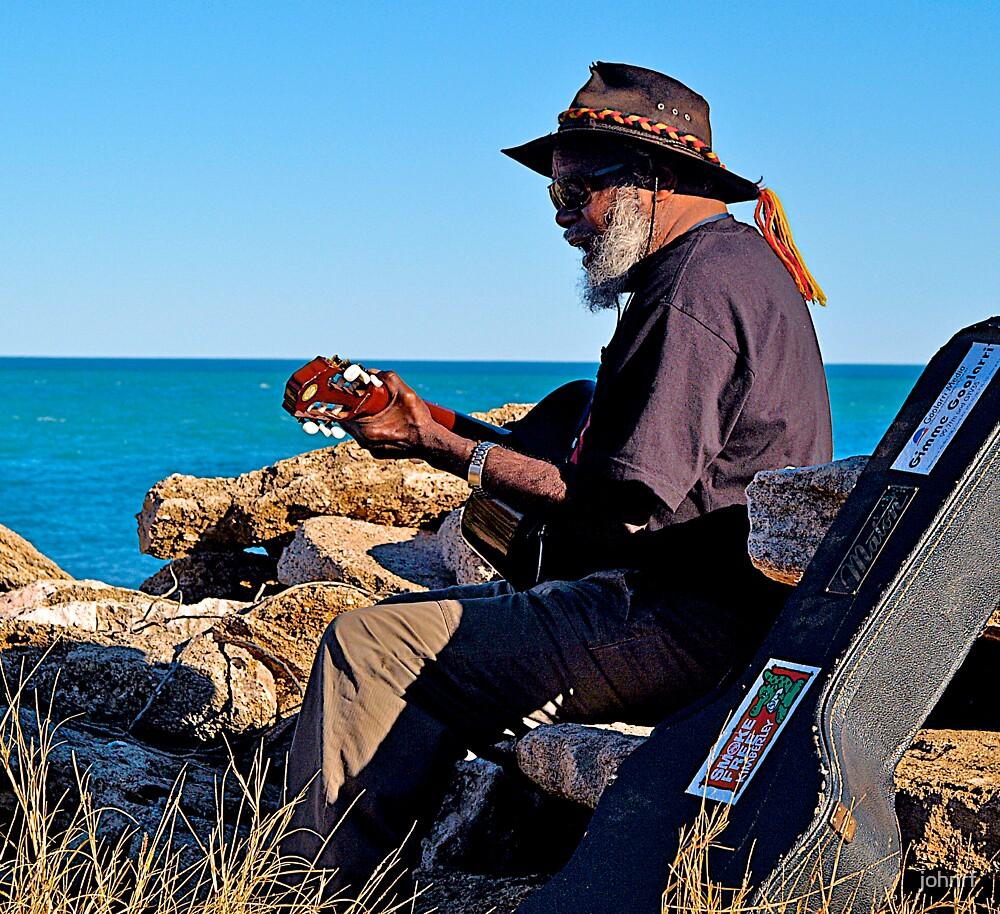 Indigenous Music Man, Broome, Australia. by johnrf