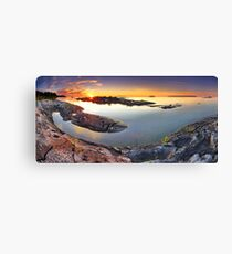 Sunset from Dunk's Point in Tobermory Canvas Print