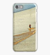 """Shore Surfing, skim surfing on the shallow waves on the beach at """"Avila Beach"""" California iPhone Case/Skin"""