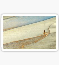 """Shore Surfing, skim surfing on the shallow waves on the beach at """"Avila Beach"""" California Sticker"""
