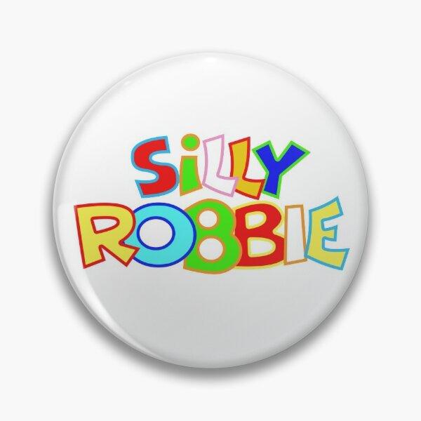 Silly Robbie Logo  Pin
