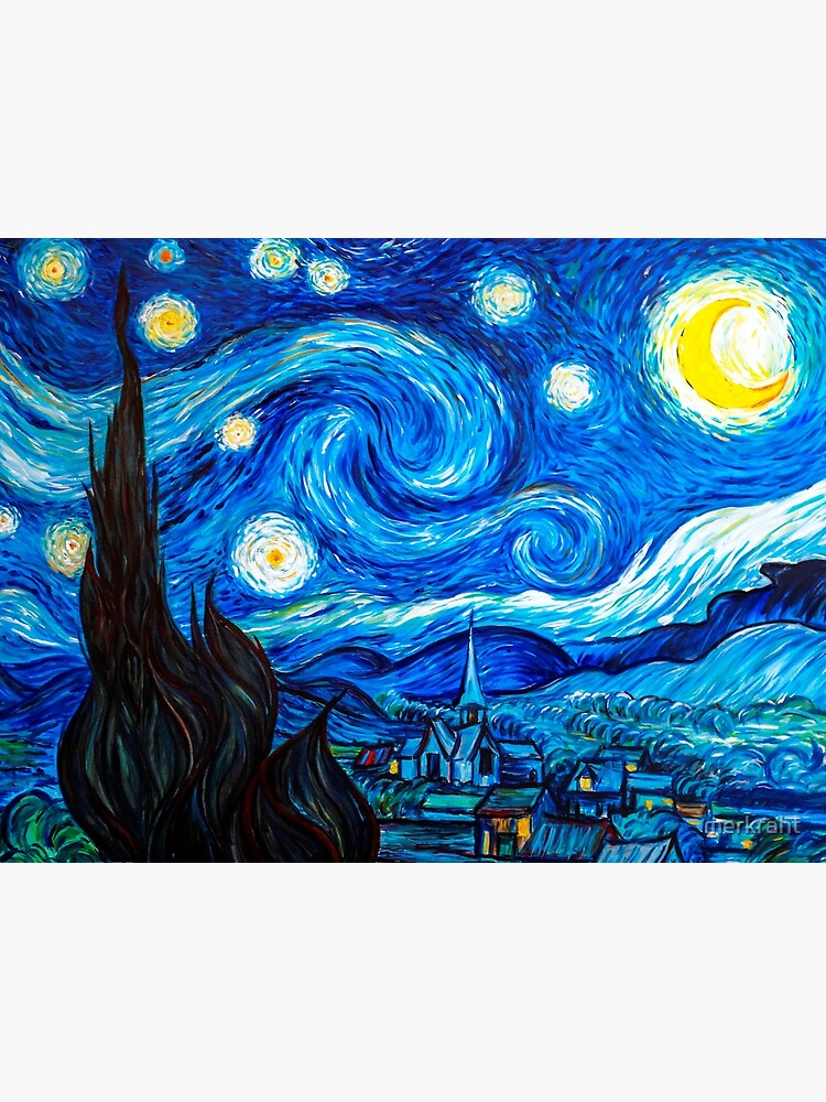 Starry Night Gifts - Vincent Van Gogh Classic Masterpiece Painting Gift Ideas for Art Lovers of Fine Classical Artwork from Artist of Sternennacht by merkraht