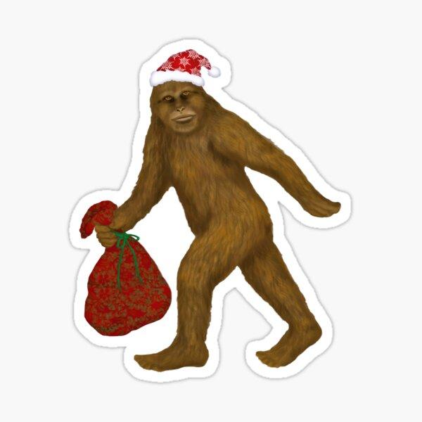Bigfoot Santa Sticker