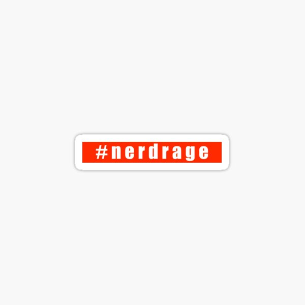 #nerdrage Sticker