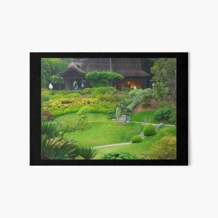 Japanese Garden Art Board Print