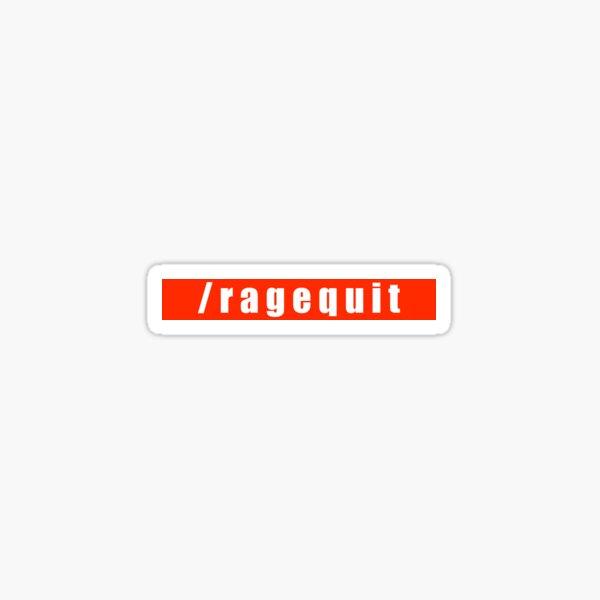 /ragequit Sticker