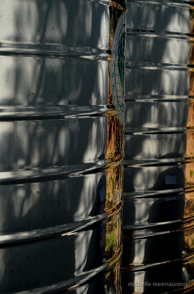 reflection on watertanks by michelle meenawong