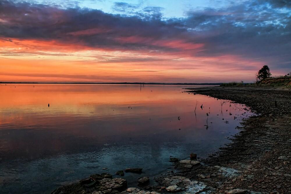 Late Evening Lake Eufaula by Carolyn  Fletcher