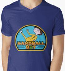 Handball Boy Men's V-Neck T-Shirt