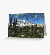 Mt. Rainier Machine Dreams #1 Greeting Card