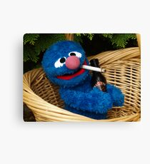 Addicted Grover Canvas Print
