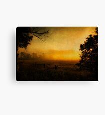 Misty Golden Morning Canvas Print