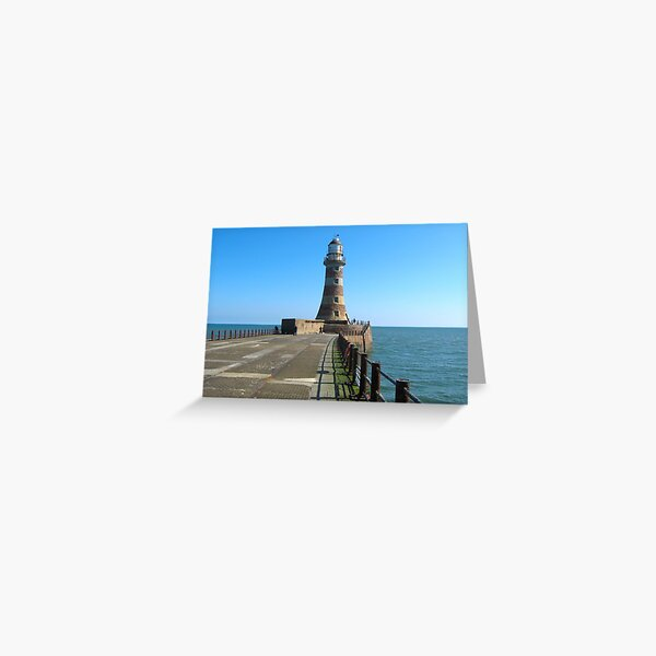 Roker Lighthousem, Sunderland uk Greeting Card