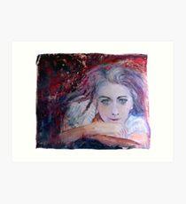 Violetas purple fear dream... Art Print
