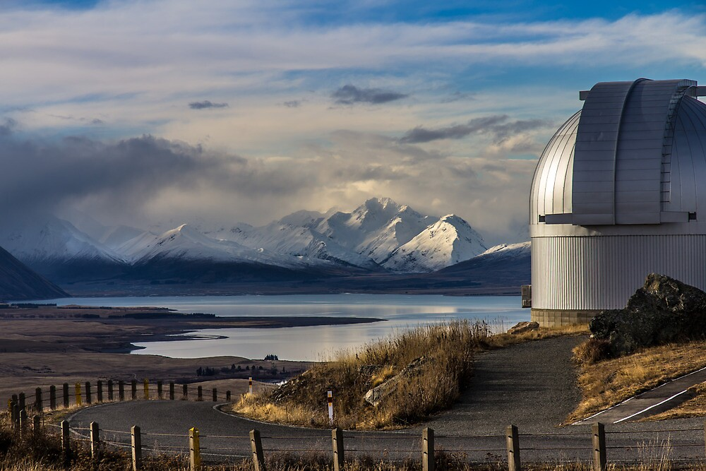 Mt John Overlooking Lake Tekapo by Russell Charters