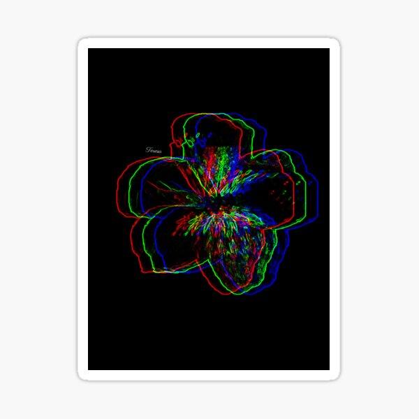 Colourful Flower Print Sticker