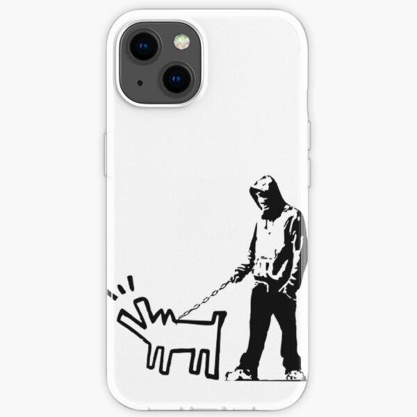 Banky Inspired: Thug Walking a Barking Dog! iPhone Soft Case