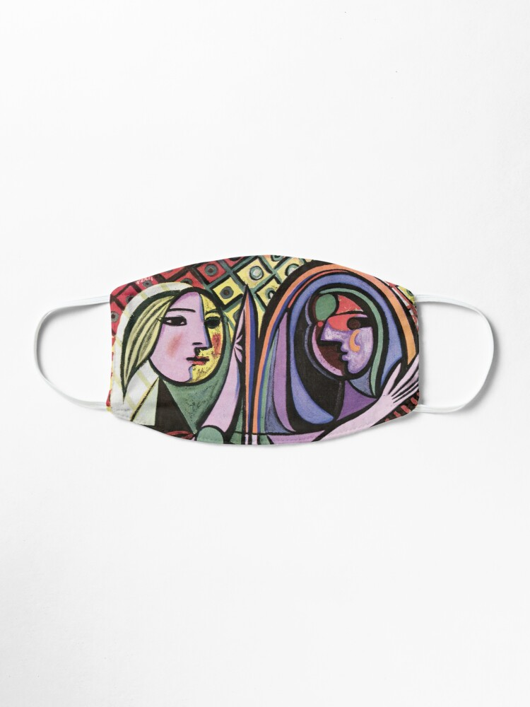 Alternate view of Pablo Picasso Girl before a Mirror 1932 Artwork Reproduction, Tshirts, Prints, Poster, Bags, Men, Women, Kids Mask