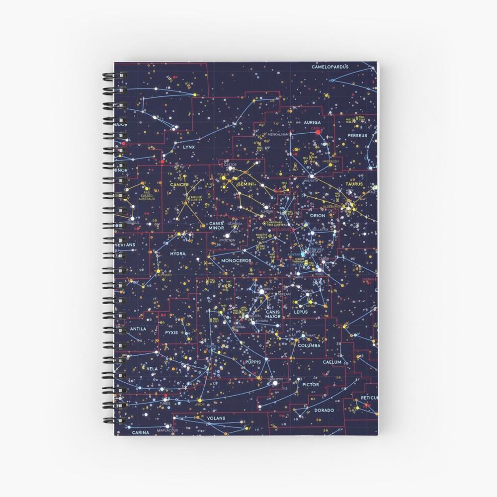 Night Constellations Spiral Notebook
