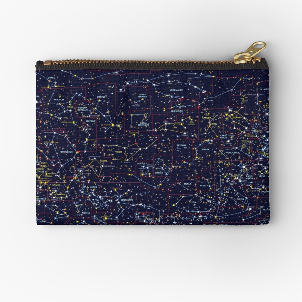 Night Constellations Zipper Pouch