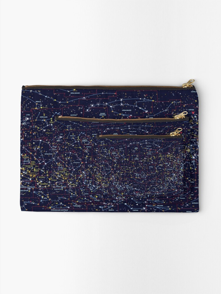Alternate view of Night Constellations Zipper Pouch