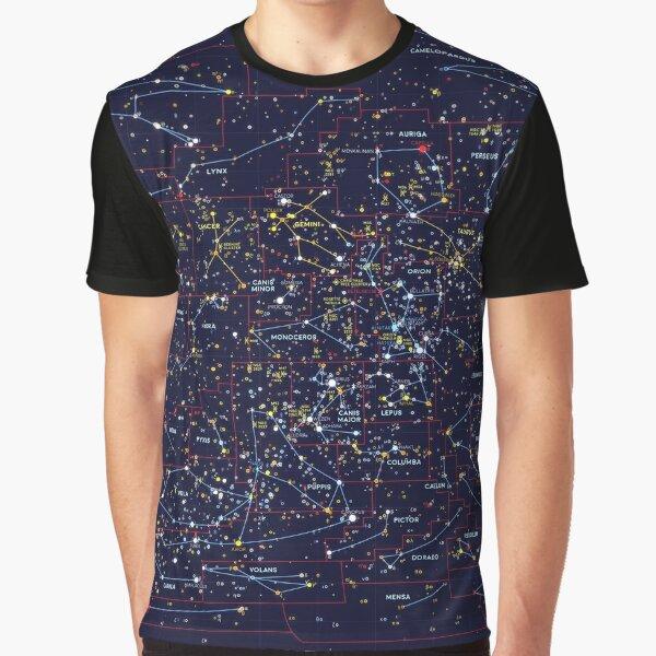Night Constellations Graphic T-Shirt