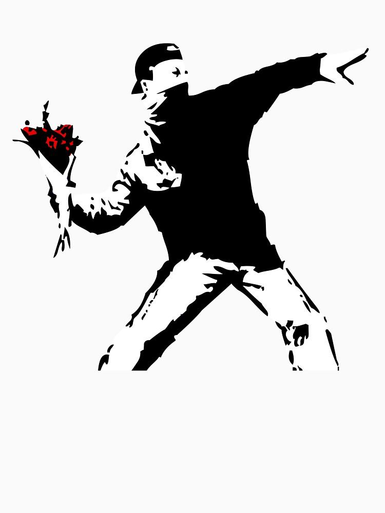 Banksy Flower Thrower! by ThatMerchStore