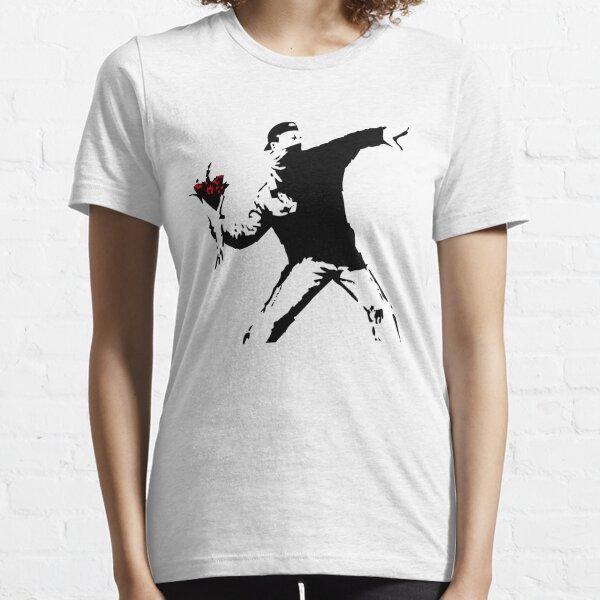 Banksy Flower Thrower! Essential T-Shirt