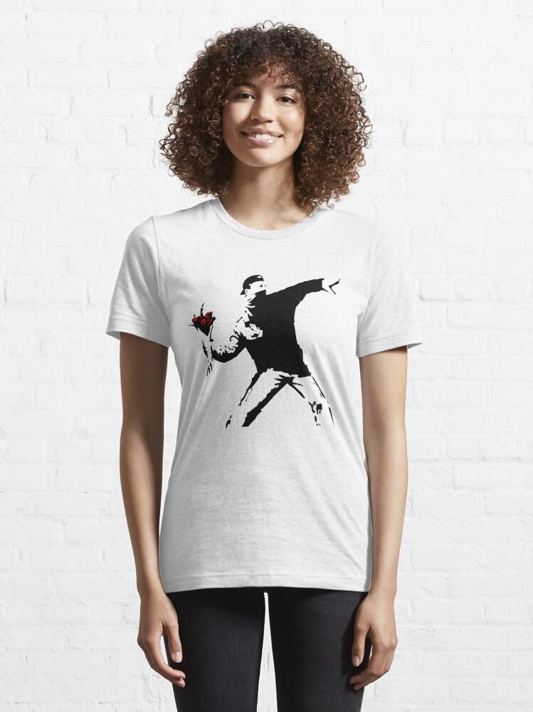 Alternate view of Banksy Flower Thrower! Essential T-Shirt