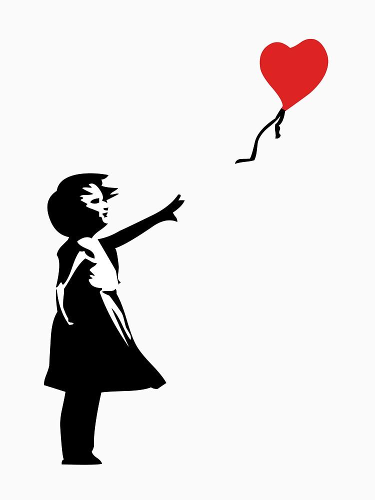 Banksy Letting Love Go! Balloon Girl!  by ThatMerchStore