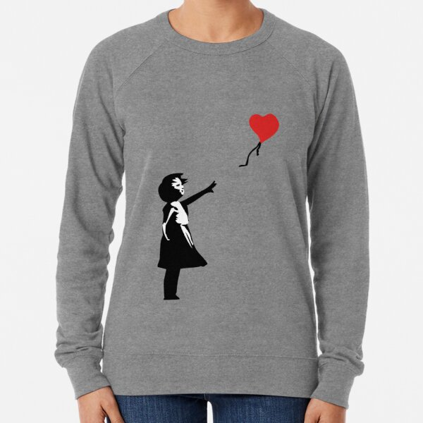 Banksy Letting Love Go! Balloon Girl!  Lightweight Sweatshirt