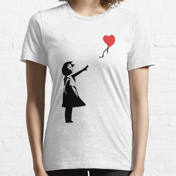 Banksy Letting Love Go! Balloon Girl!  Essential T-Shirt