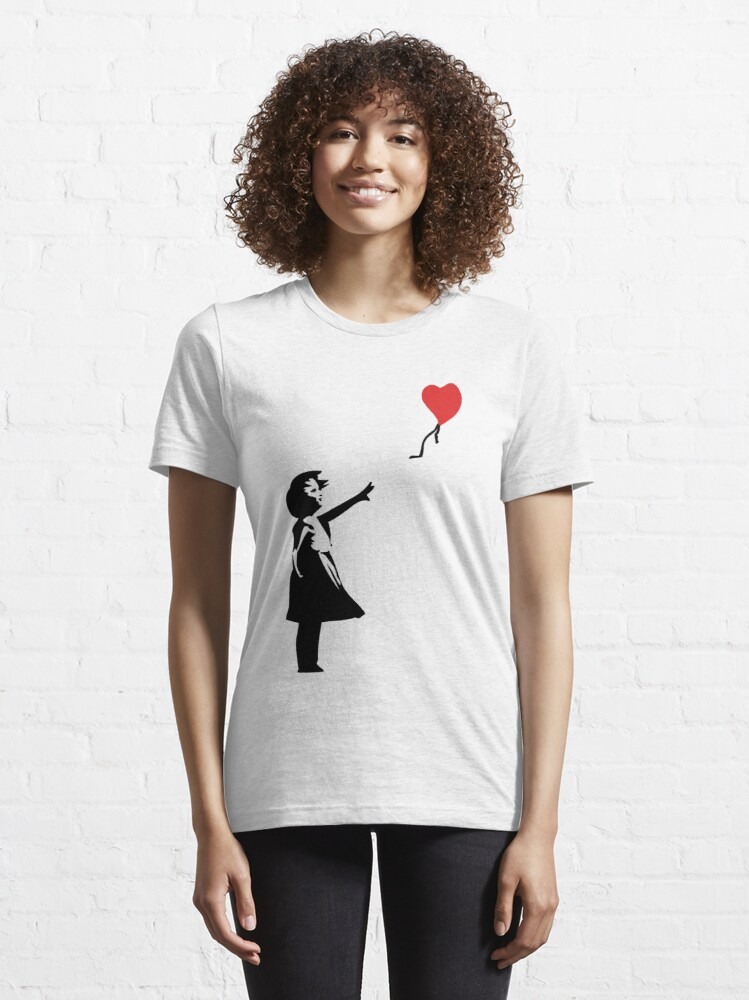 Alternate view of Banksy Letting Love Go! Balloon Girl!  Essential T-Shirt