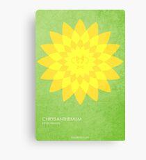 Chrysantheme Leinwanddruck