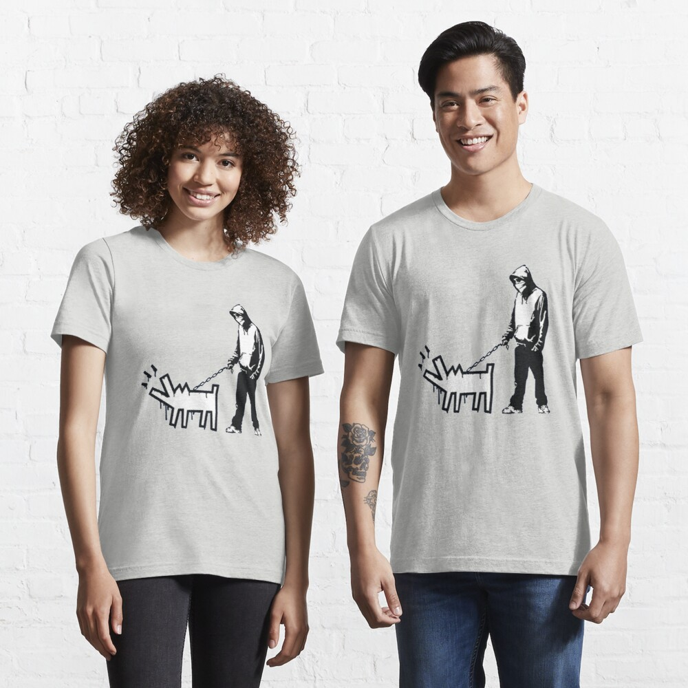 Banksy Thug with a Barking Dog! Essential T-Shirt