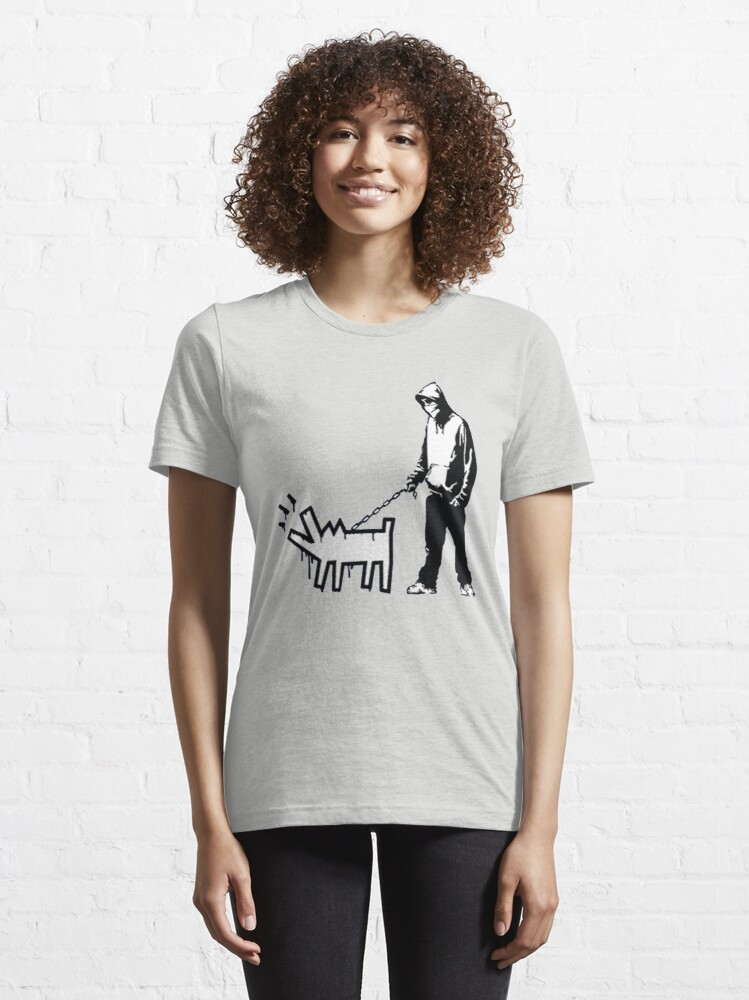 Alternate view of Banksy Thug with a Barking Dog! Essential T-Shirt