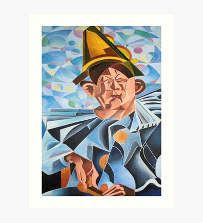 Not Clowning But Frowning Art Print